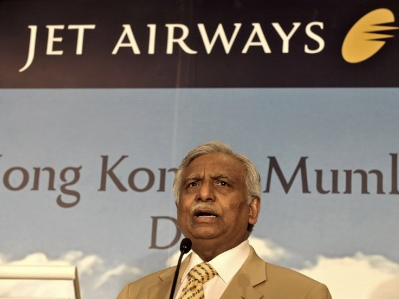 Naresh Goyal, founder and chairman of Jet Airways. Photo: AFP