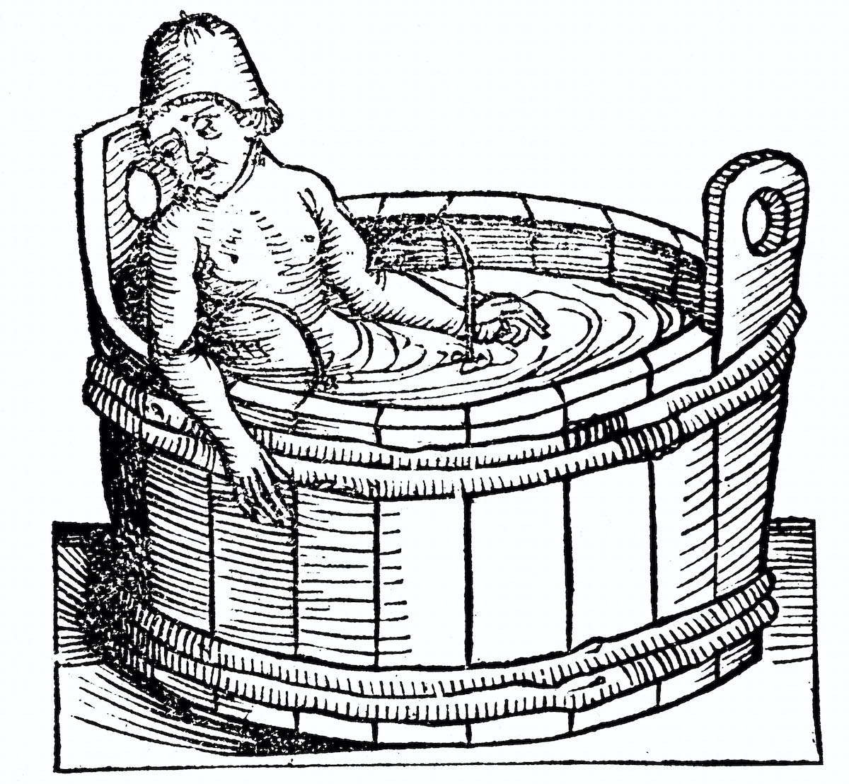 Lucius Annaeus Seneca (The Younger) c5 BC-65 AD. Roman Stoic philosopher, committing suicide in his bath, having antagonised Nero. Photo AFP / rom Hartmann Schedel 'Liber chronicarum mundi' (Nuremberg Chronicle), 1493 woodcut, Nuremberg