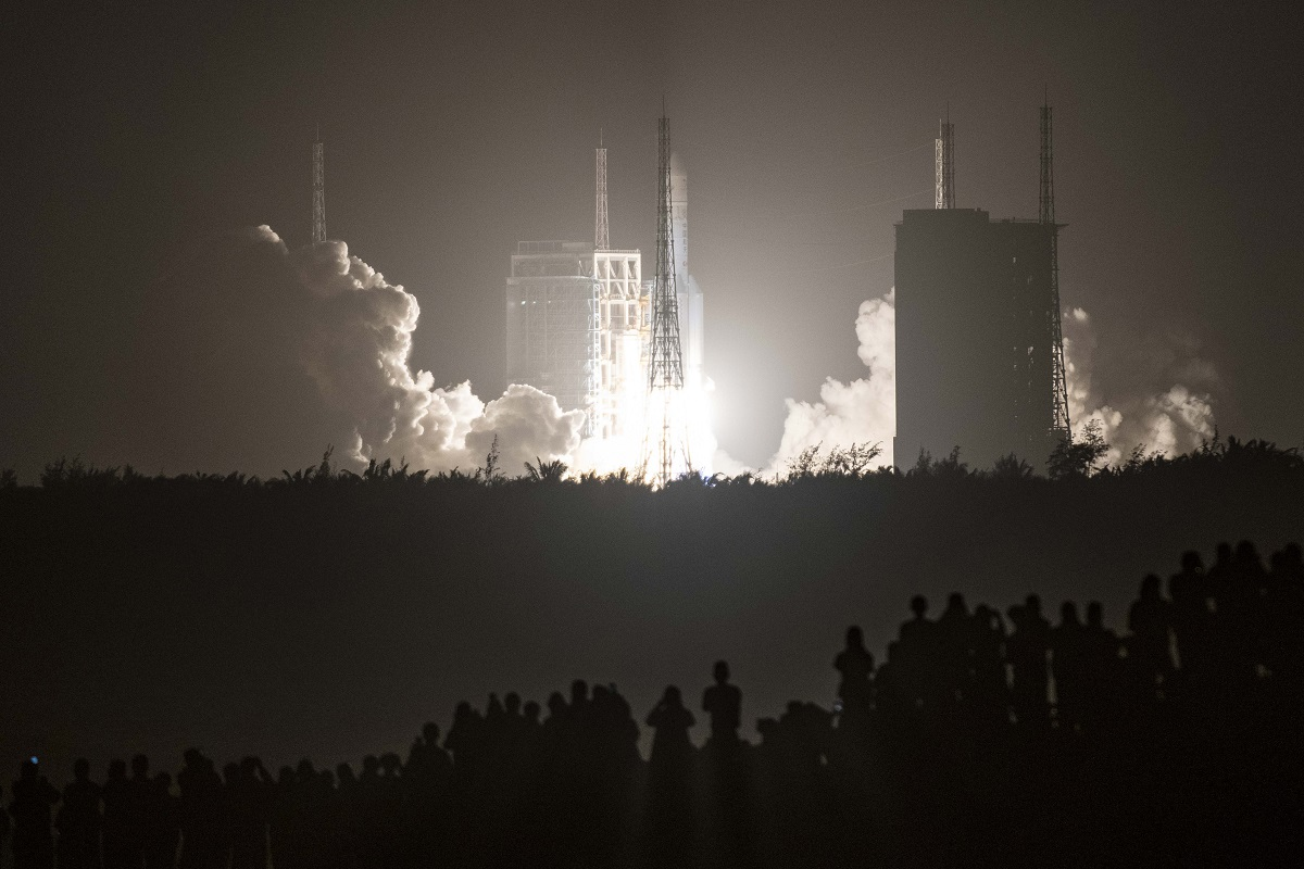China claims 'space superpower' status with moon launch