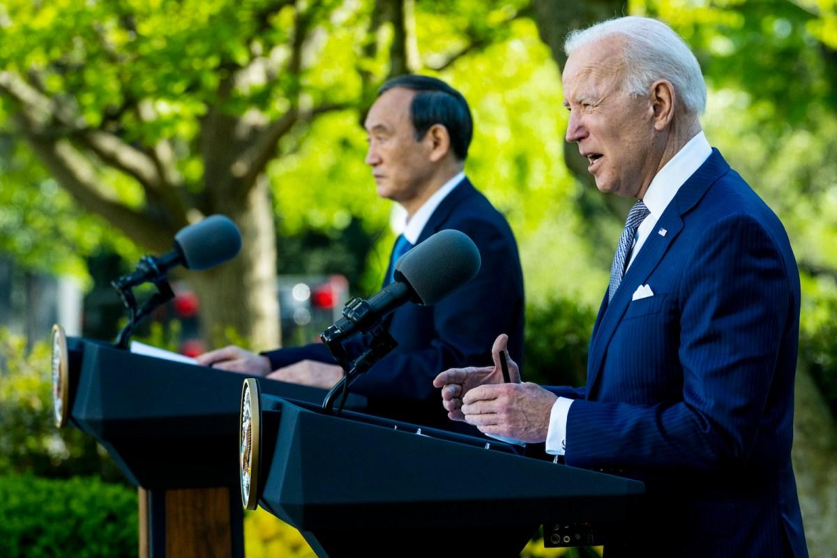 Suga, Biden affirm 'ironclad' alliance, take aim at China