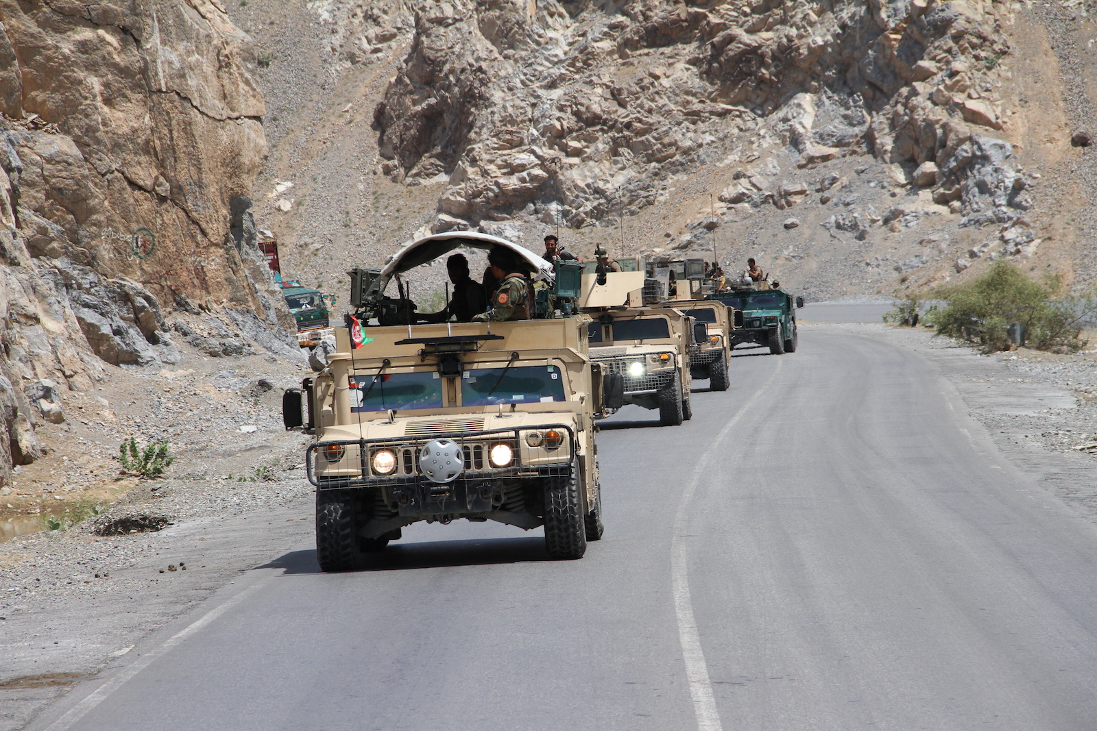 Afghan security forces deployed and start operations against Taliban around Torkham border point between Afghanistan and Pakistan in Nangarhar province, Afghanistan on July 23, 2021. Photo: AFP via Anadolu Agency / Stringer