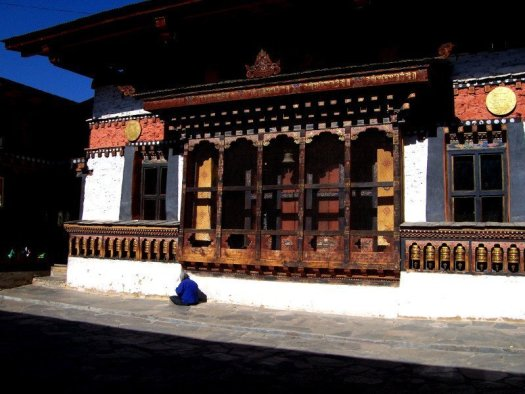 Main Prayer Building at one of the Best Places To Visit In Thimphu Bhutan, an ancient temple named Changangkha Lhakhang