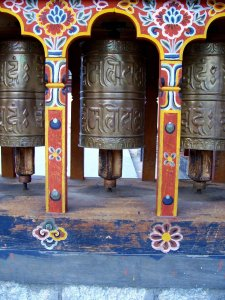 Best Places To Visit In Thimphu Bhutan - Clock Tower Square, Prayer Wheels Close Up