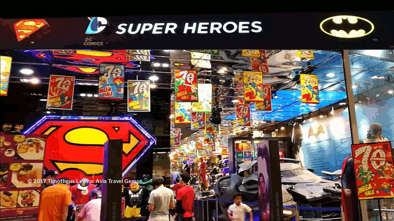 Best Places To Eat In Kuala Lumpur - DC Comics Super Heroes Cafe and Store