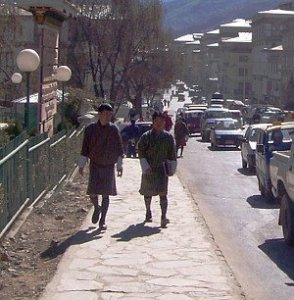 Best Places To Visit In Thimphu, Bhutan - Bhutanese Men Wearing Gho