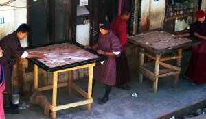 Best Places To Visit In Thimphu, Bhutan - Bhutanese playing Carrom