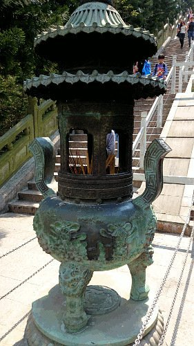 What To See In Hong Kong - Large Incense Burner along Steps to Tian Tan Buddha