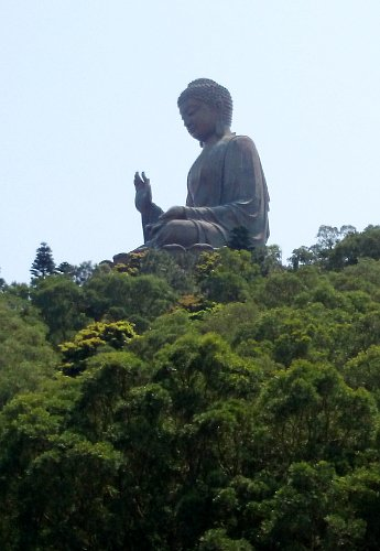 What To See In Hong Kong - Tian Tan Buddha seen from afar, from Gateway
