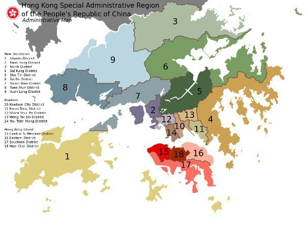 Best Places to Visit in Asia - Map of Hong Kong
