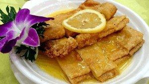 Good Food In Hong Kong - Deep Fried Bean Curd Sheets with Lemon Sauce