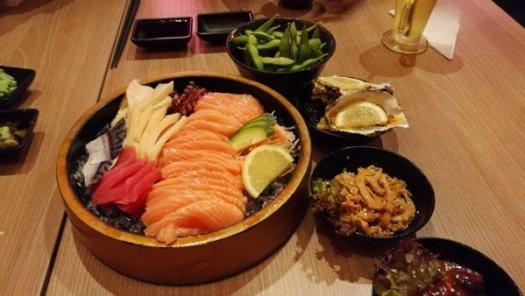 Best Places To Eat In Kuala Lumpur - Kinjuku SetiaWalk Mall Review - Sashimi Platter