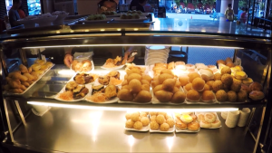 Deep fried & baked dim sum counter