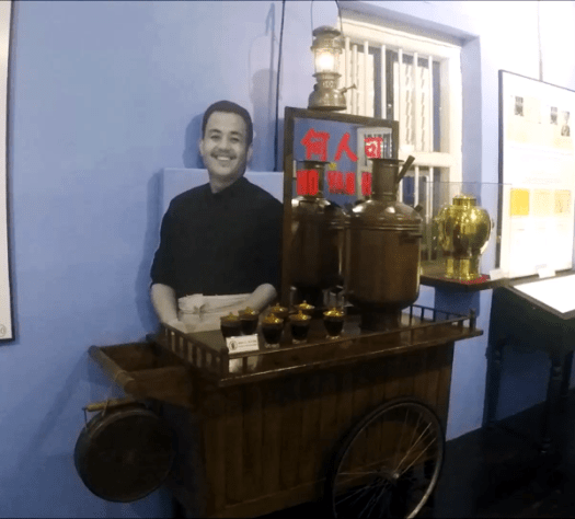 A cart that was used to sell the tea in the old days