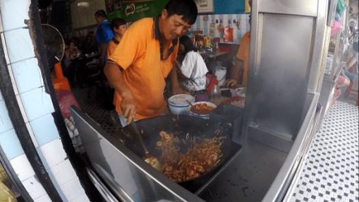 Grandson of Tiger who took over from his grandfather and now runs the stall successfully