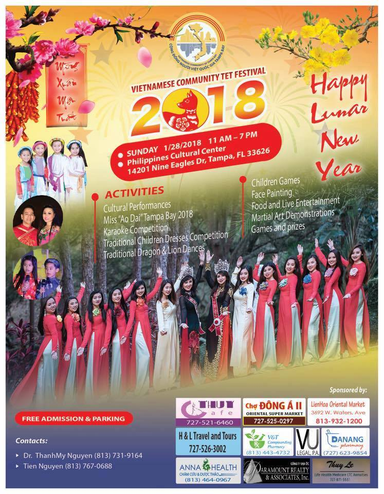 Vietnamese New Year (Tet) 2018 Festival in Tampa