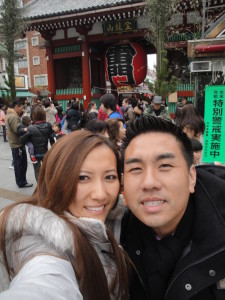 Ricky and May Ly at Asakusa Sensoji -Temple