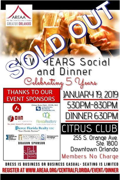 New Year's Social and Dinner - SOLD OUT!