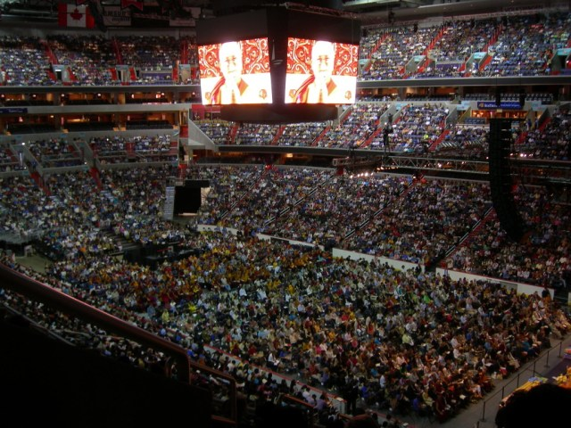 His Holiness the Dalai Lama hosts the 2011 Kalachakra for World Peace in front of sold out crowds at the Verizon Center in Washington D.C.
