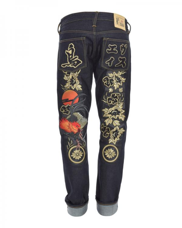 EVISU year of rooster jeans