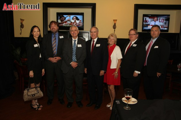 Members of the judiciary from the Orange County Courthouse attended the celebration to support GOAABA. Magistrate Linh Ison, Judge Steve Jewett, Judge Thomas Turner, Judge John Kest, Judge Sally Kest, Judge Kenneth Barlow, and Judge Greg Tynan. Judge Janet Thorpe (not pictured) was also in attendance.