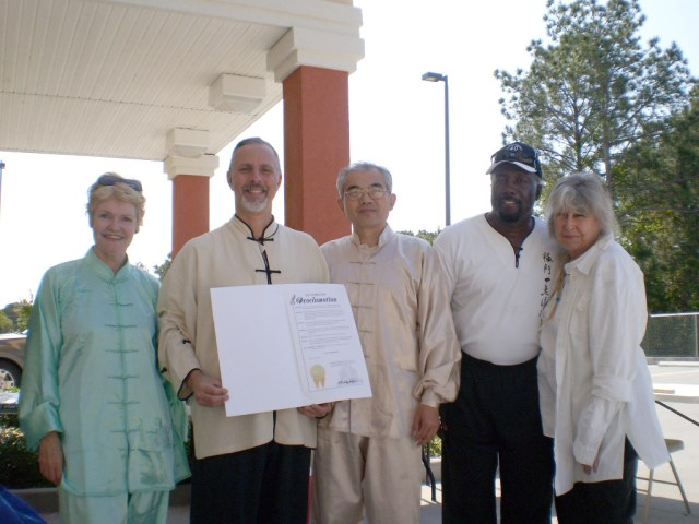 World Tai Chi and Qigong Day Proclamation signed by Mayor Buddy Dyer