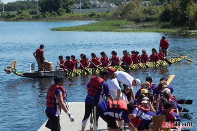 REACH Dragon Boat team at the Walgreen Orlando International Dragon Boat Festival 2015