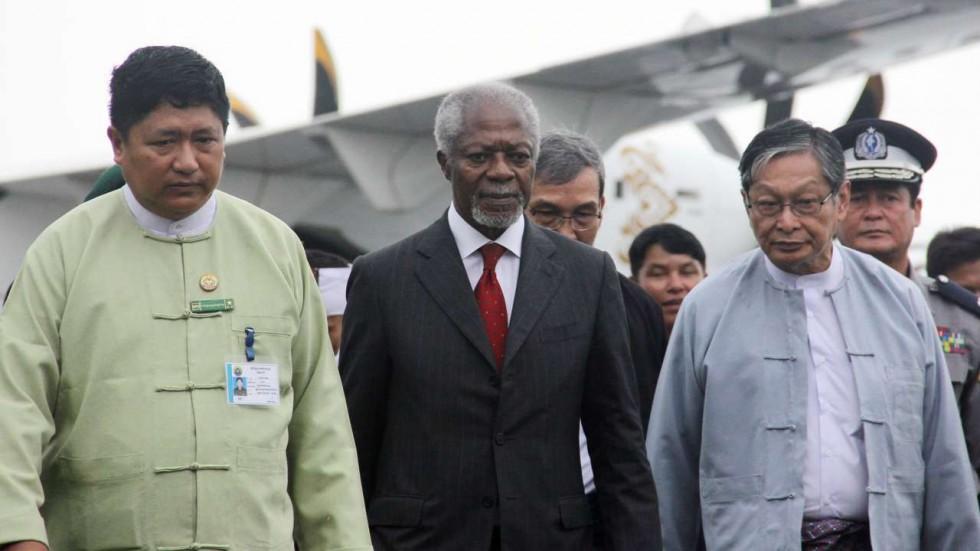 Kofi Annan in Yangon to Deliver UN Recommendations