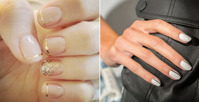Must Try Bridal Nail Trends 2017 Stripes