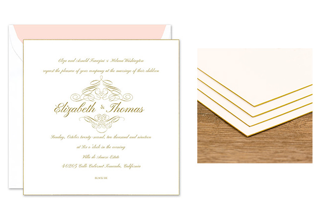 Olive Green And White Custom Pocket Style Wedding Invitations From Jean M