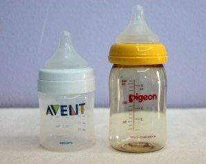 Pigeon Peristaltic Plus Nipple Use in Avent Bottle