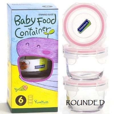 yumyum baby food container glasslock round