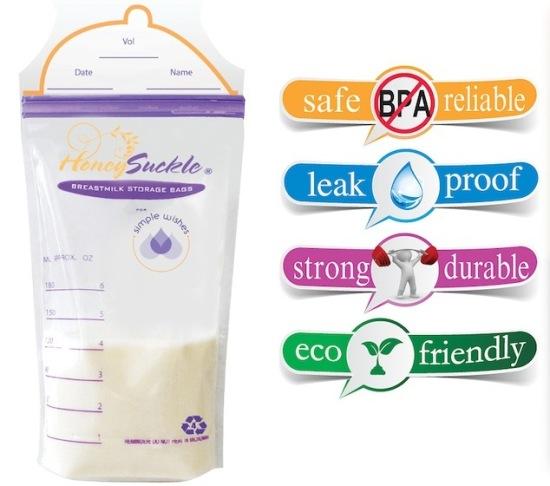 Simple Wishes Honey Suckle Breastmilk Bag