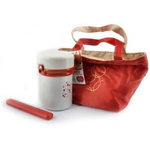 Paketan pembelian dengan tas warna merah