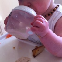 Tommee Tippee First Sips in use 2