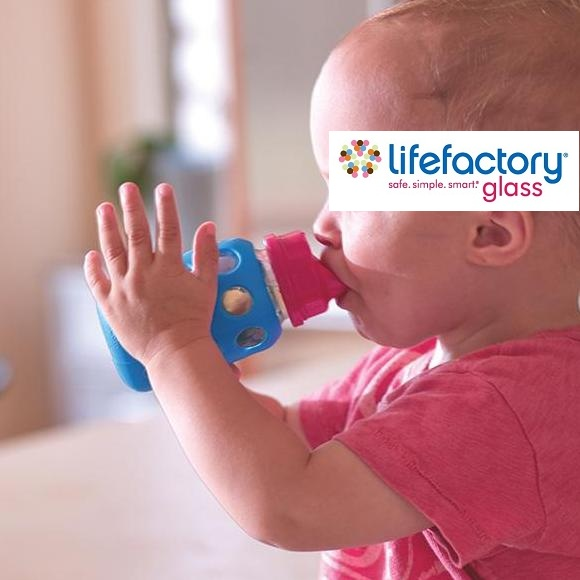 Lifefactory Sippy Cup - in use
