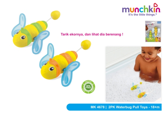 munchkin water bug pull toys