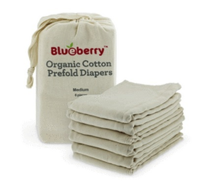 blueberry cotton prefold