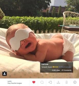 Anak Rifat Sungkar. Sumber: instagram