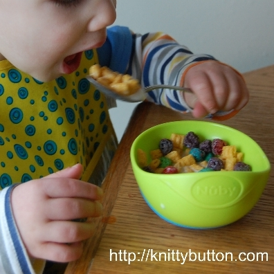 nuby sure grip bowl in use 1