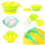 Baby Beyond Non Skid Big Bowl with Fork Spoon Set (Features)