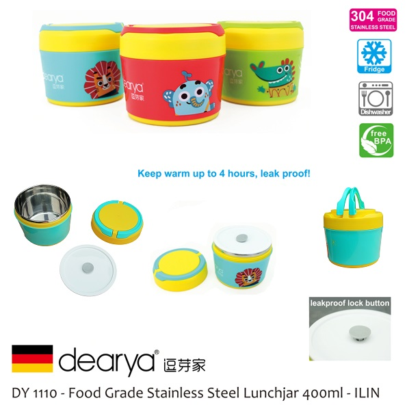 Dearya ILIN Stainless Steel Baby Lunch Jar
