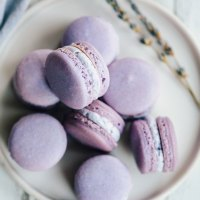 Lavender Macarons with Lavender Buttercream Filling