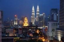 Blick aus unserem Hotelzimmer in Kuala Lumpur