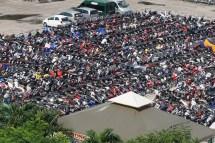 Parkplatz in Ho-Chi-Minh-Stadt