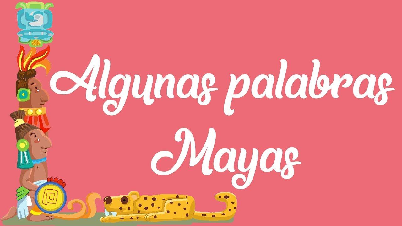 palabras en maya
