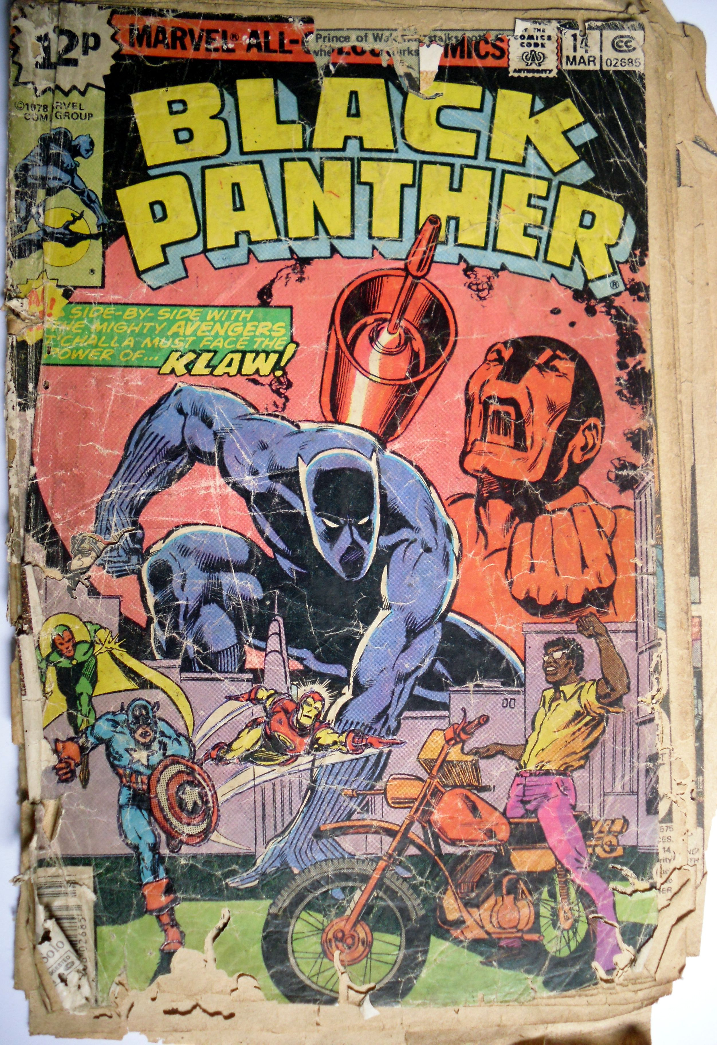 Our first Marvel Comic Black Panther. 1980