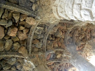 The rough rubble stone work is really beautiful