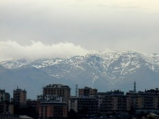And yes, that is snow blowing off the mountains behind the edge of urban development. You'd almost think it were winter.