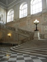 This stair was just lovely. Talk about your processional entry. The majority of the Palazzo Reale was closed for the day but I snapped this picture past some event workers who were carrying in chairs and tables.