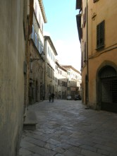 Amazingly wide medieval street.